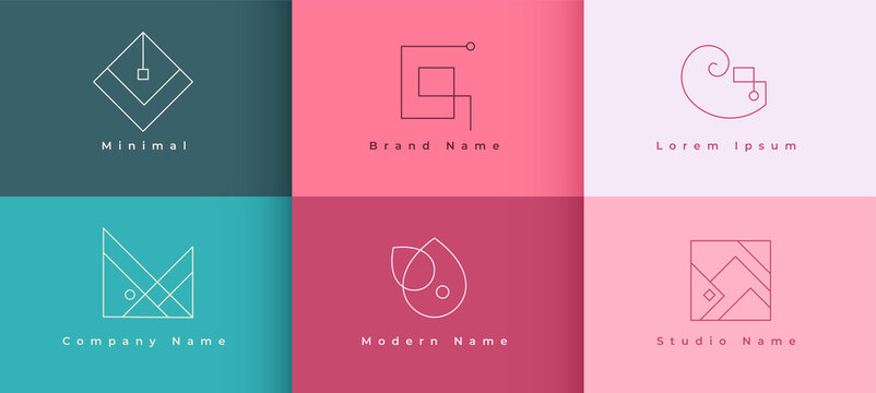 logo designs concept set in minimal style