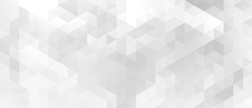 ekegant white and gray triangle pattern banner design