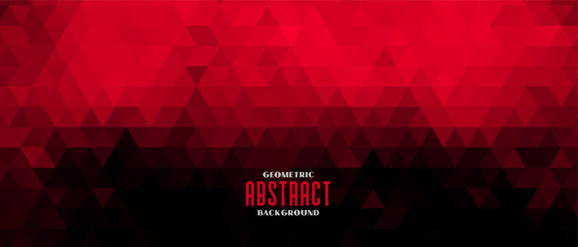 red and black abstract triangle pattern banner design