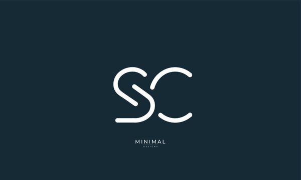 Alphabet letters icon logo SC