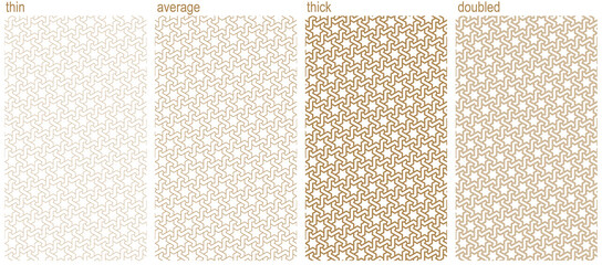 Arabic seamless pattern.A set of four ornaments with different thicknesses.