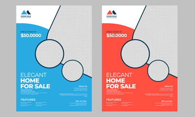 Home for sale flyer template with print ready
