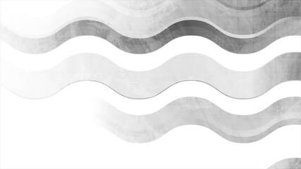Fotobehang - Grey geometric wavy stripes abstract tech grunge motion design. Seamless looping. Video animation Ultra HD 4K 3840x2160