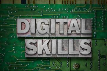 digital skills gr Wall mural