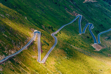 Wall Mural - Northern Italy Stelvio Pass Winding Road