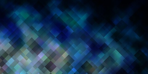 Dark BLUE vector backdrop with rectangles.