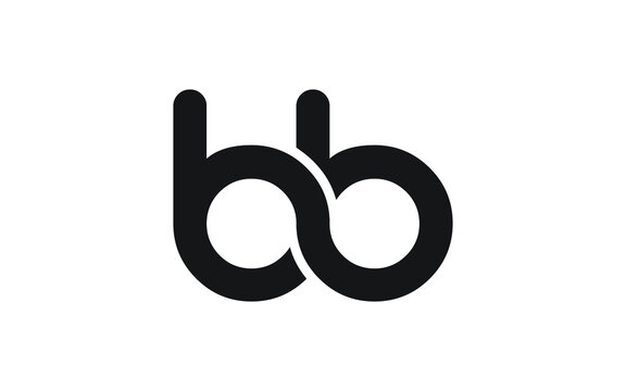 bb or b Letter Initial Logo Design, Vector Template