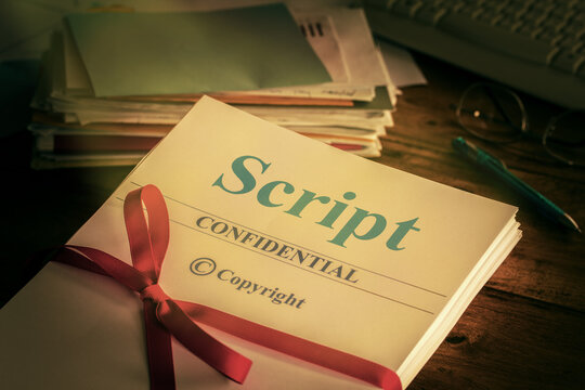 Script Old retro grunge screenplay manuscript proofread by author