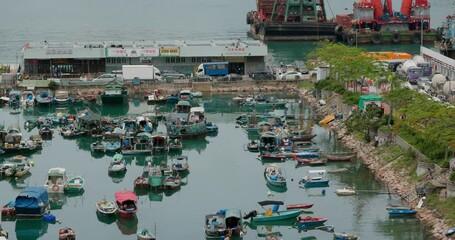 Wall Mural - Hong Kong fishing village