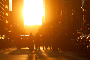 Saturday night in Manhattan during the 8 p.m. curfew in New York City