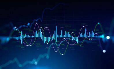 Digital graph interface, stock market