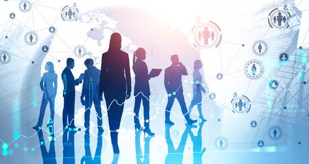 International business team in city, HR network