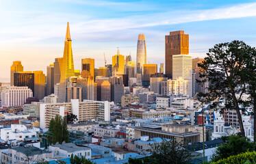 Wall Mural - San Francisco Sunset golden hour