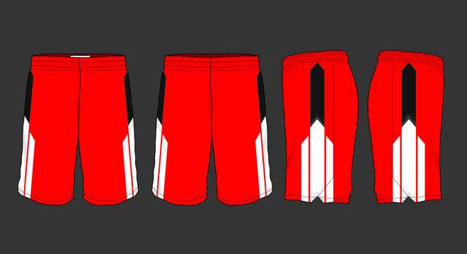 Basketball sports short template apparel