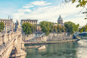 Fototapete - The city of Rome in Daytime