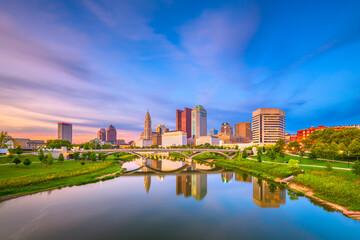 Fototapete - Columbus, Ohio, USA Skyline