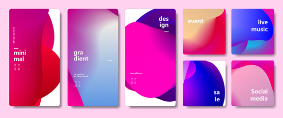 Minimalist gradient modern social media story banner template for promotion.  abstract colorful for music event, special offer, flyer, frame, layout design and page vector illustration