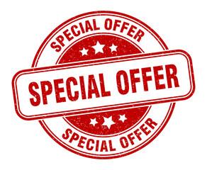 special offer stamp. special offer round grunge sign. label