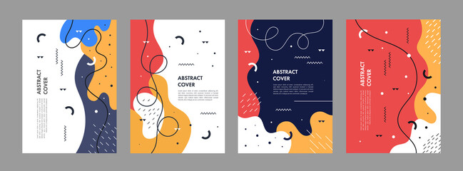 Set of abstract creative artistic templates. Universal cover Designs for Annual Report, Brochures, Flyers, Presentations, Leaflet, Magazine.