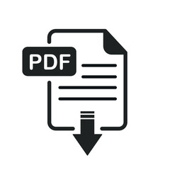 PDF File Download and Upload Document Icon Vector Logo Template