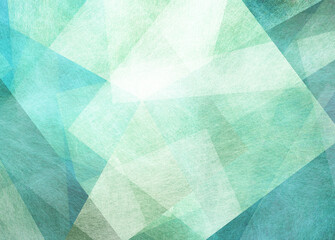 abstract blue green background with textured triangle shapes in fun geometric pattern, teal and white color texture in modern art design