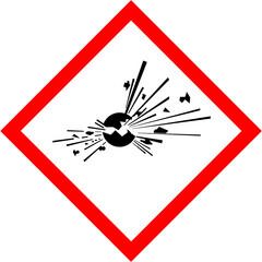 Explosive CLP sign