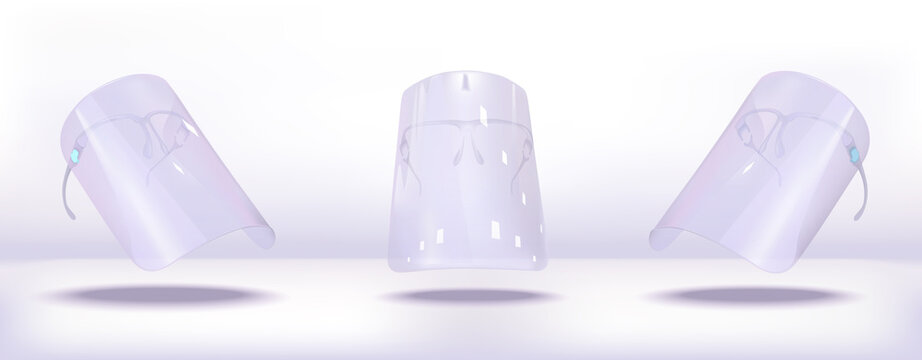 disposable face shield that will attach directly to your prescription glasses