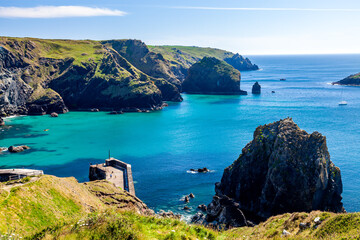 Summers day at Mullion Cove Cornwall England UK Europe