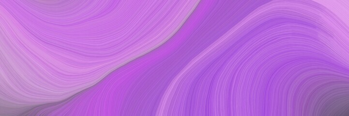 Keuken foto achterwand Fractal waves soft artistic art design graphic with modern curvy waves background illustration with medium orchid, plum and old lavender color