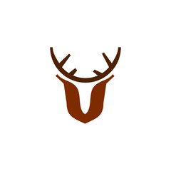 Minimal deer logo template vector icon design