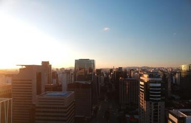 Vista aérea da Avenida da Faria Lima, São Paulo, Brasil