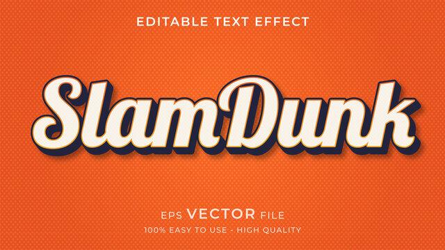 basketball editable text effect concept