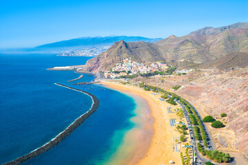 Deurstickers Canarische Eilanden Beautiful view of Teresitas Beach (Playa de Las Teresitas) - Santa Cruz de Tenerife - Canary Islands, Spain