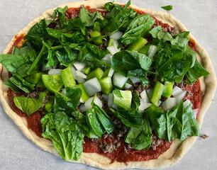 The Vegan pizza