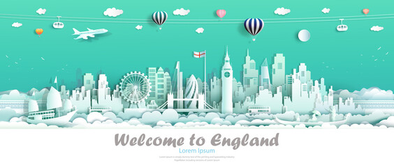 Wall Murals Green coral Travel london england famous landmarks Europe downtown country of island.