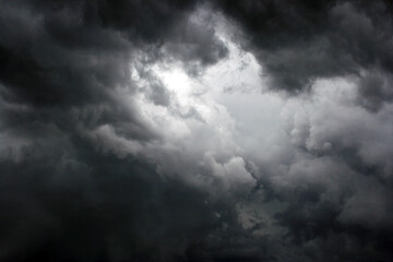 storm clouds timelapse Fotobehang