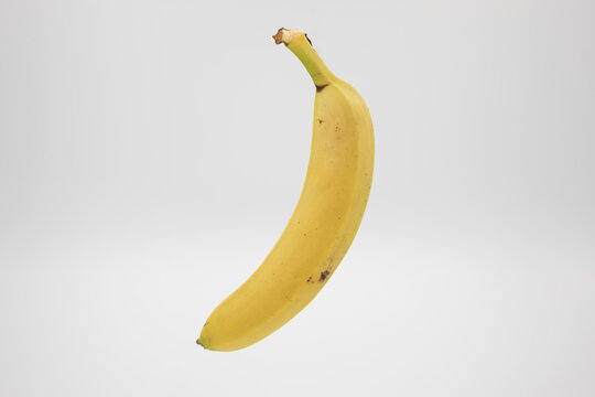 yellow ripe banana on a white background