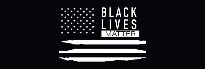 Fototapeta Black Lives Matter. Symbol of American Flag. Equality of races and skin colors obraz