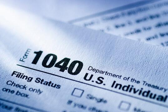US Treasury Form 1040 for an Individual Return