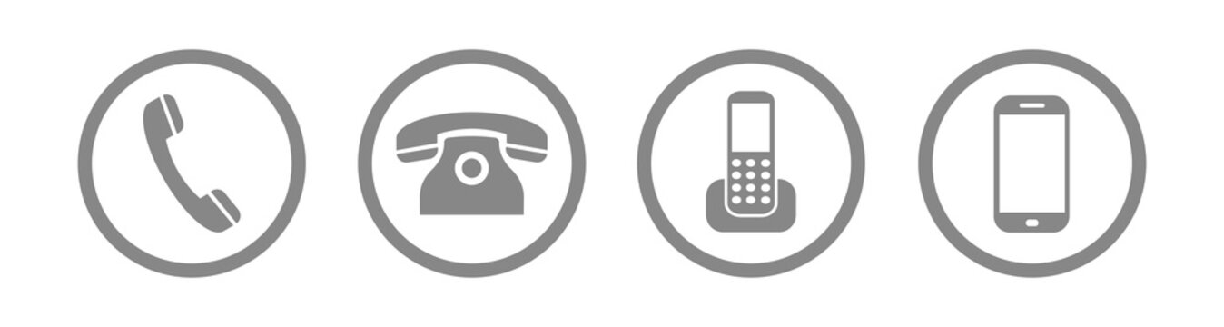 Phone icons. Set of phones isolated on white background , vector illustration