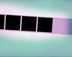 Wall Mural - film strip, empty picture frames, retro filter effect