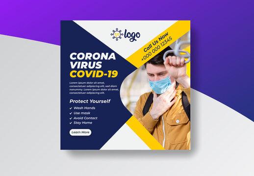 COVID-19 Social Media Banner Layout