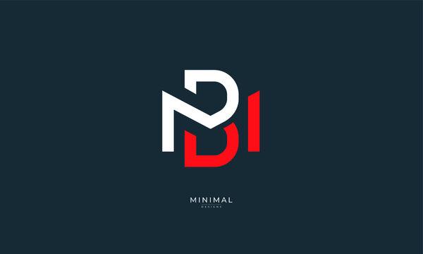 Alphabet letter icon logo BM or MB