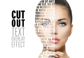 Cut Out Overlay Text Effect Mockup
