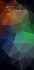Dark vertical triangle background for your mobile design - Vector