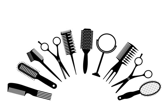 A large set of tools for the hairdresser or groomer.