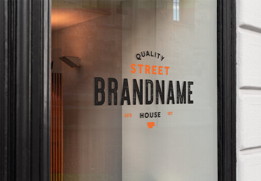 Window Sign Mockup