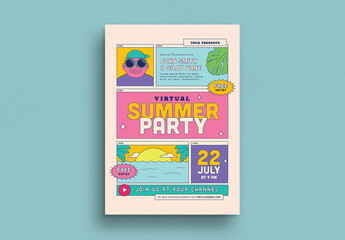 Virtual Summer Party Flyer Layout