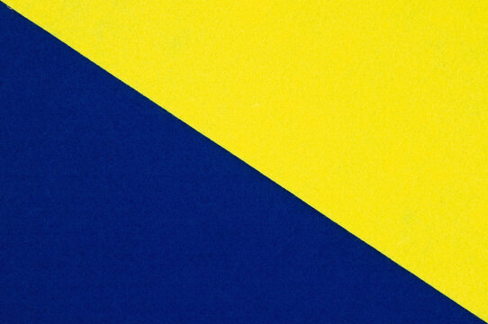 Blue and yellow felt material background