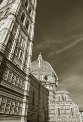 Fototapete - Exterior of Cathedral Santa Maria del Fiore in Florence, Italy